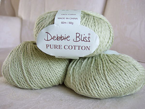 Debbie Bliss Pure Cotton in pale green