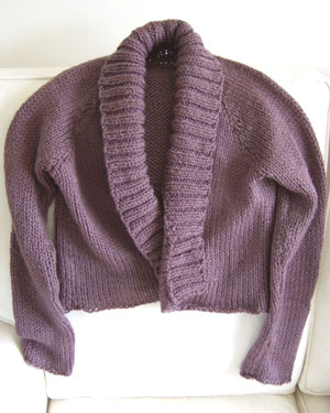 Finished cardigan with sirdar click