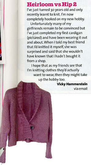 My letter in Simply Knitting magazine