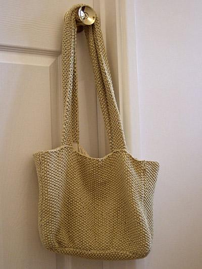 moss stitch bag