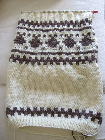 cardigan with fair-isle pattern