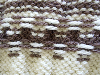 back of the pattern in fair-isle style