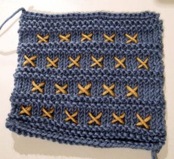 Garter Stitch Stripe Square