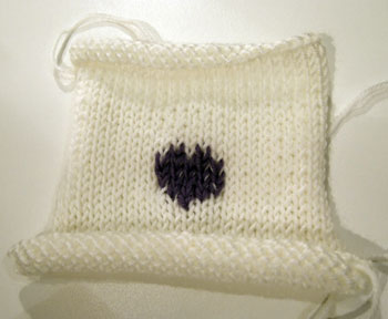 Stocking Stitch HeartSquare