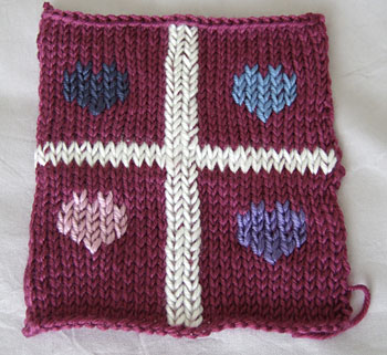 stocking stitch with hearts