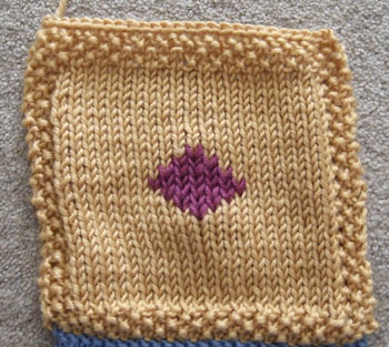 Stocking Stitch diamond square