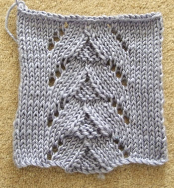 Stocking Stitch with Lace Panel