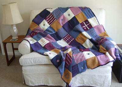 shaker-style throw from the Art of Knitting