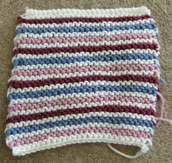 2 row garter stitch stripes