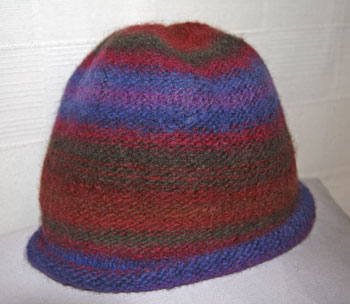 multi coloured hat felted