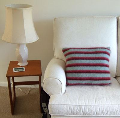 st ives cushion with rowan kidsilk haze