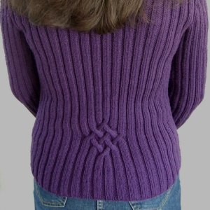 the back of the cardi