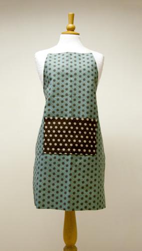 apron made from Moda Pure canvas fabrics
