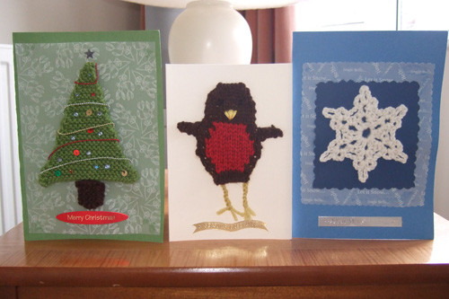 knitted christmas cards