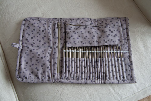 Interchangeable Knitting Needle Case Sewing Pattern : My amazing needle case Vicky the Stitch