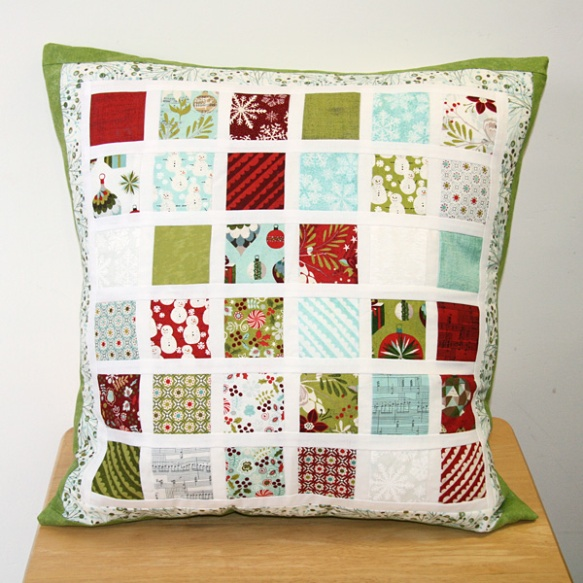 mini charm pack cushion