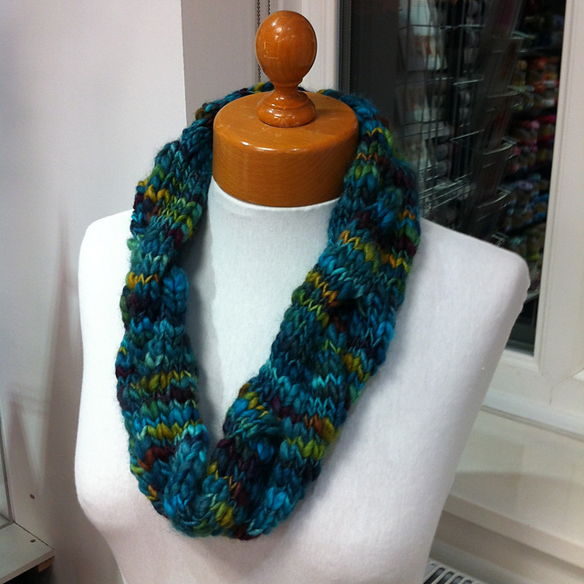 Rainbow Twist Cowl