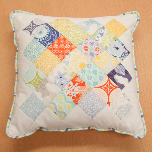 sunnyside patchwork cushion