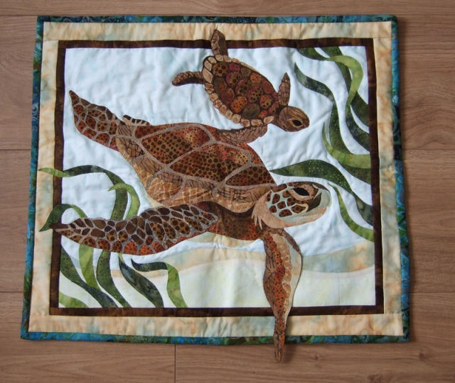 sea turtle wall hanging