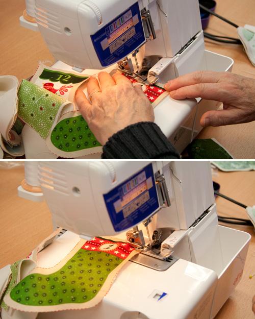 overlocking stocking tops on Elna 664 Pro Overlocker