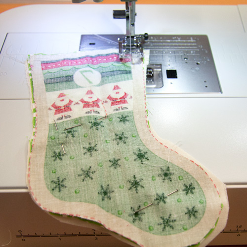 sewing advent stocking