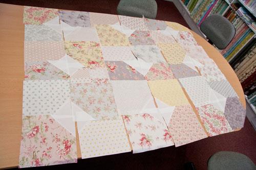whitewashed cottage quilt blocks