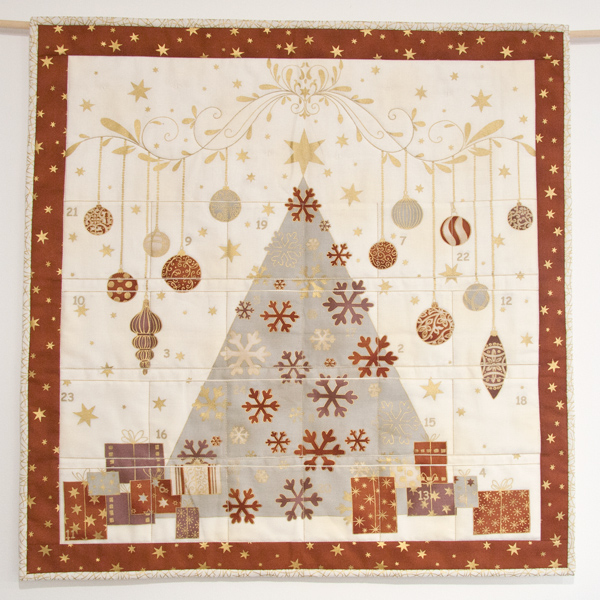 copper advent calendar from Stof Fabrics