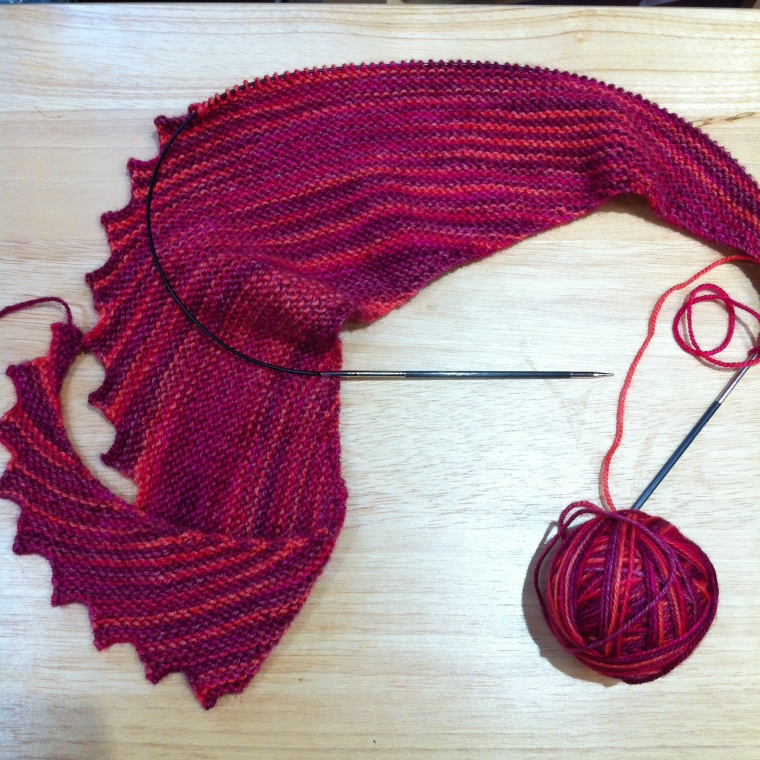 hitchhiker scarf progress