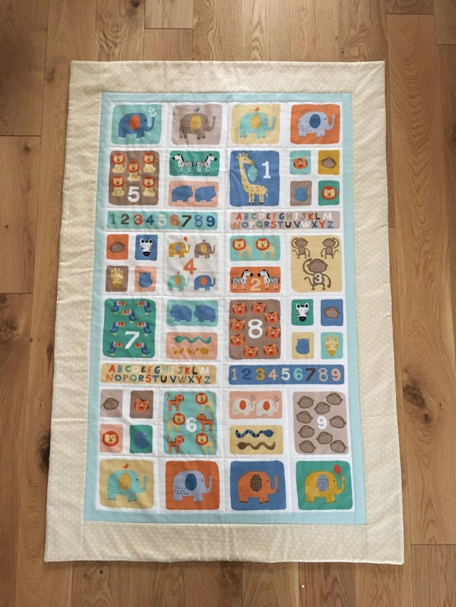 jungle theme baby quilt